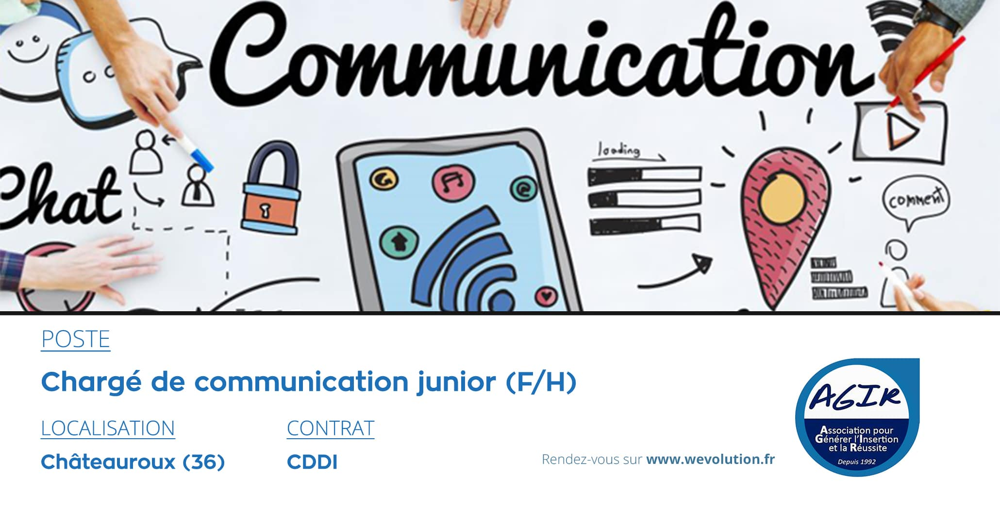 CHARGE DE COMMUNICATION JUNIOR – AGIR