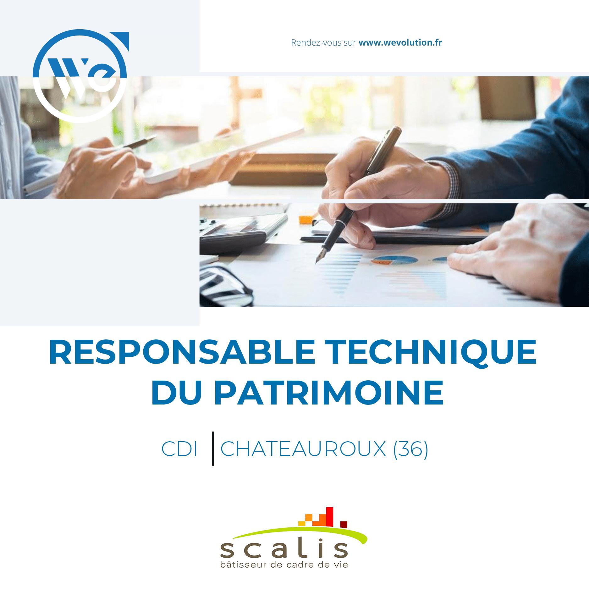 RESPONSABLE TECHNIQUE DU PATRIMOINE (F/H) – scalis