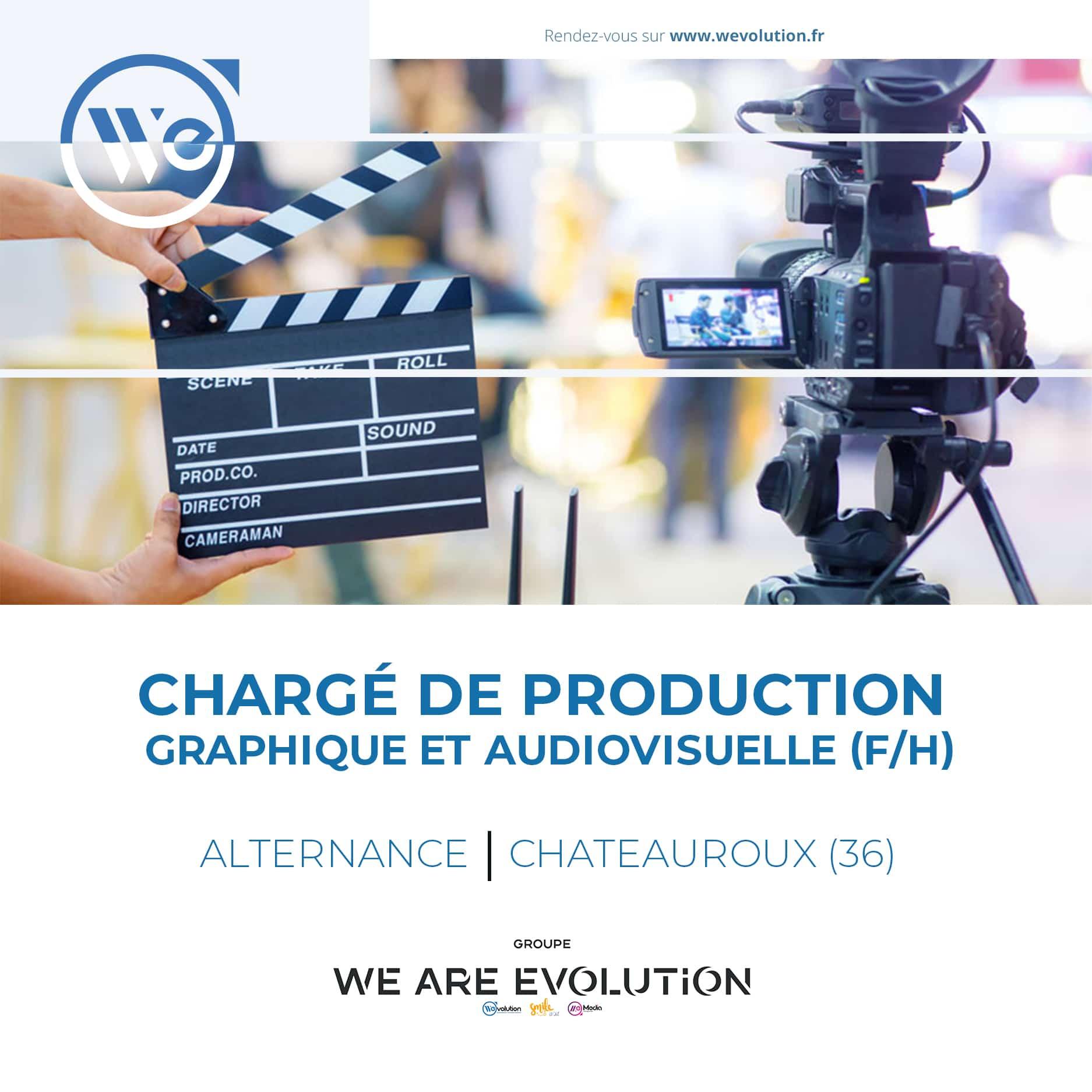 CHARGE DE PRODUCTION GRAPHIQUE & AUDIOVISUELLE (F/H)
