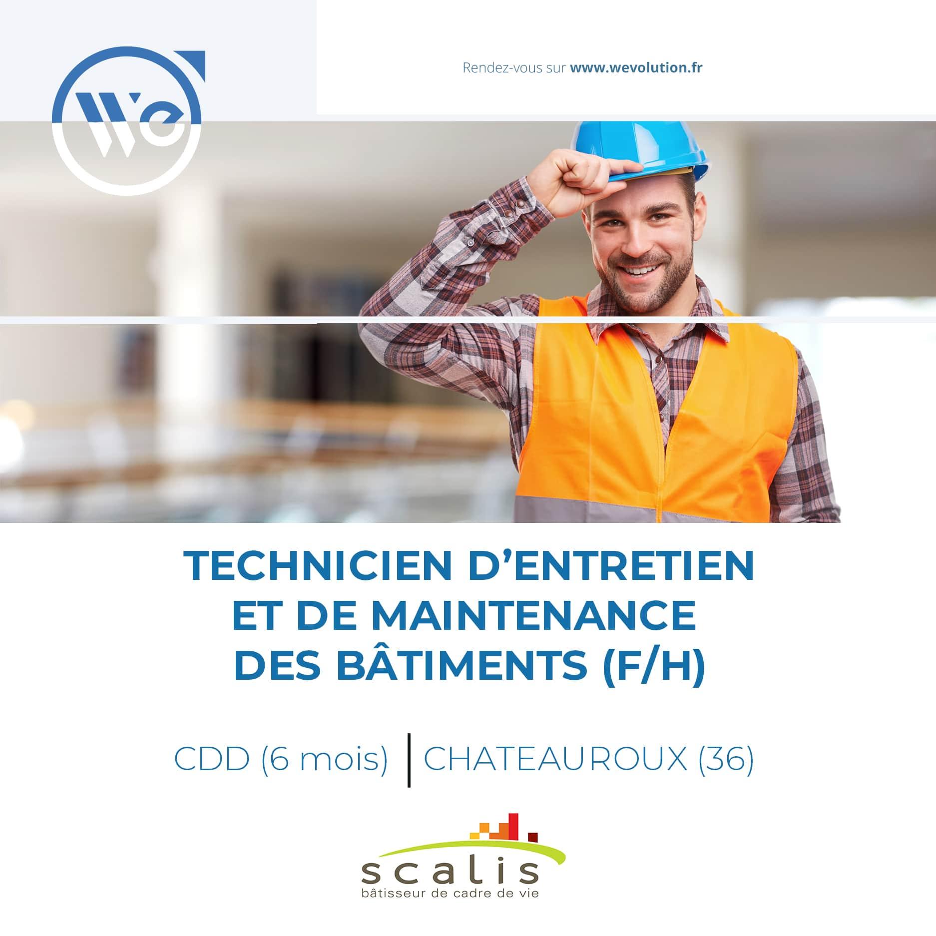TECHNICIEN D'ENTRETIEN ET DE MAINTENANCE DES BATIMENTS (F/H) – scalis