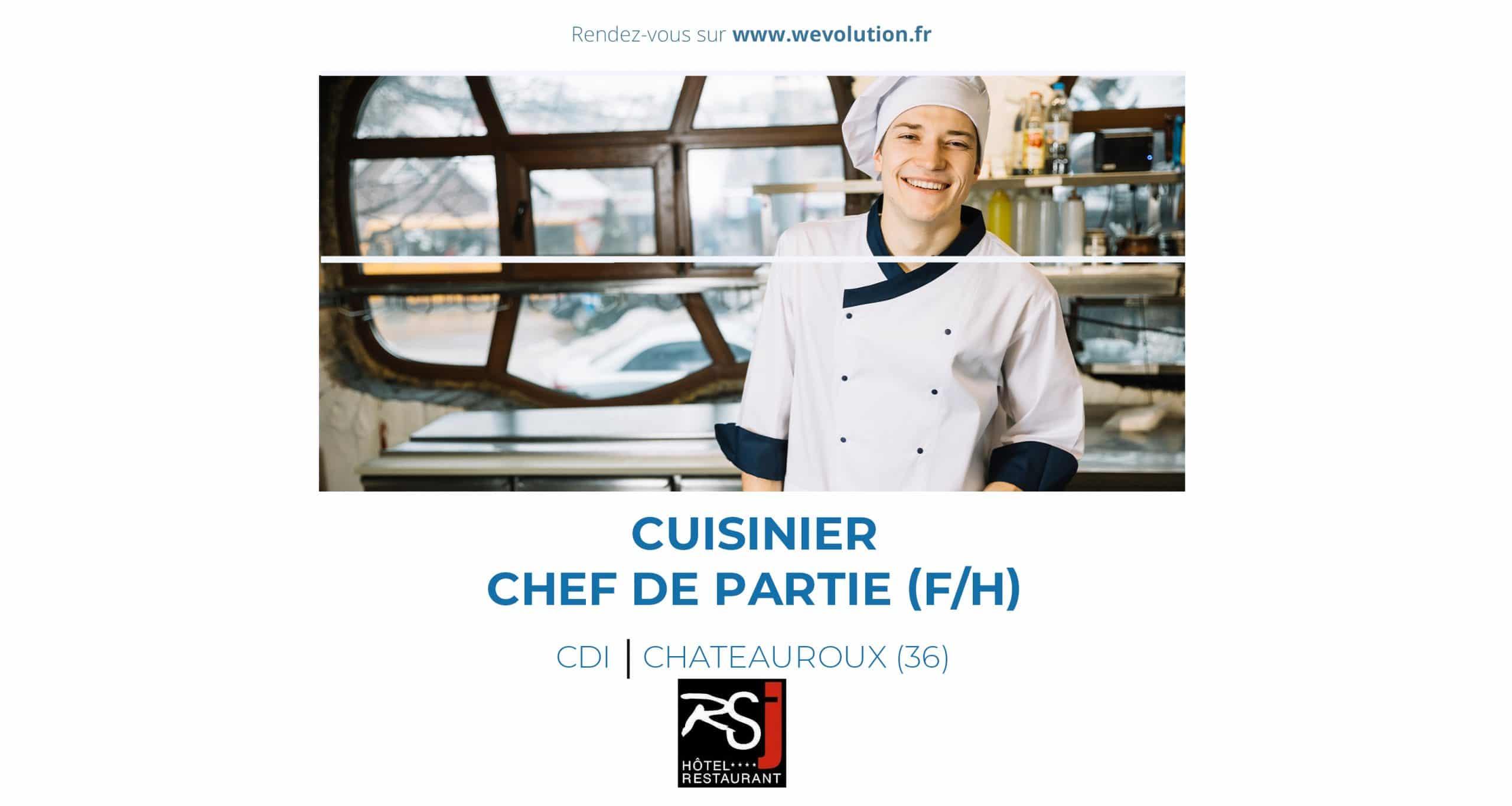 CUISINIER – CHEF DE PARTIE (F/H)