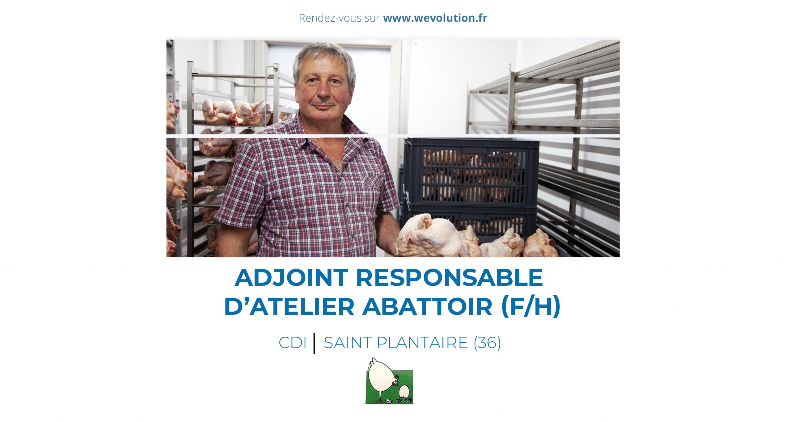 ADJOINT RESPONSABLE D'ATELIER ABATTOIR (F/H) – LA FERME DU PRE CAILLET
