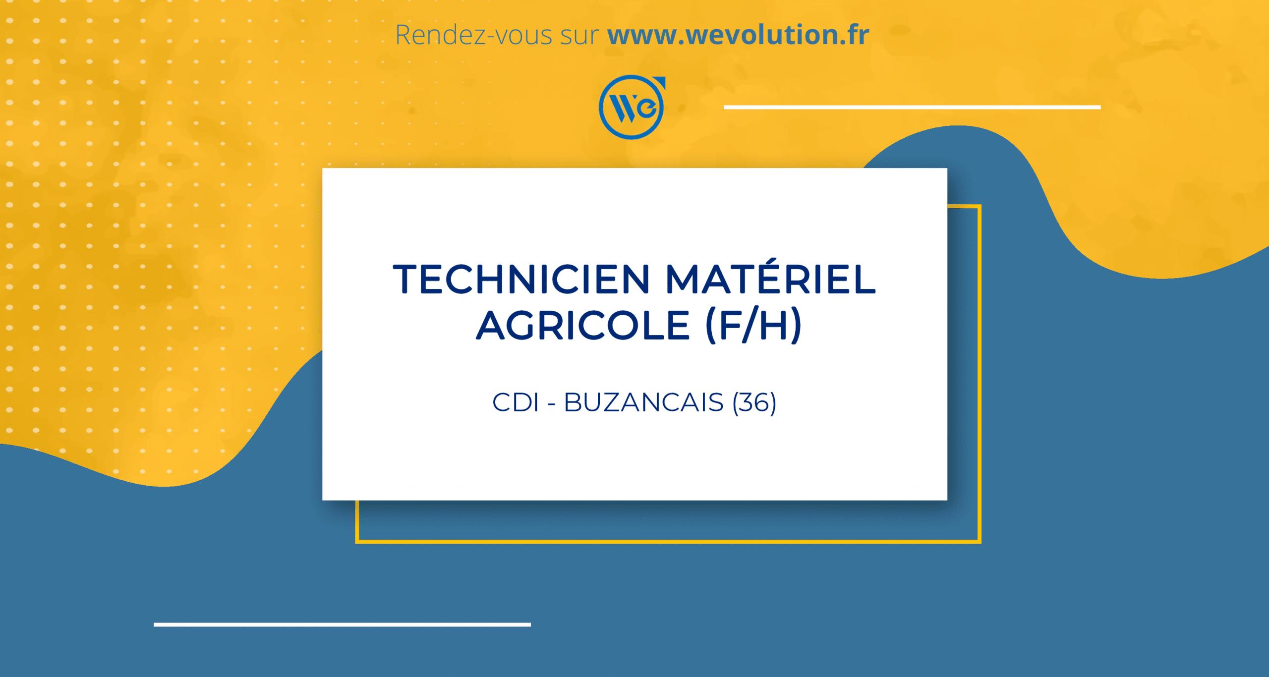 TECHNICIEN MATERIEL AGRICOLE – GARAGE DE CROTZ