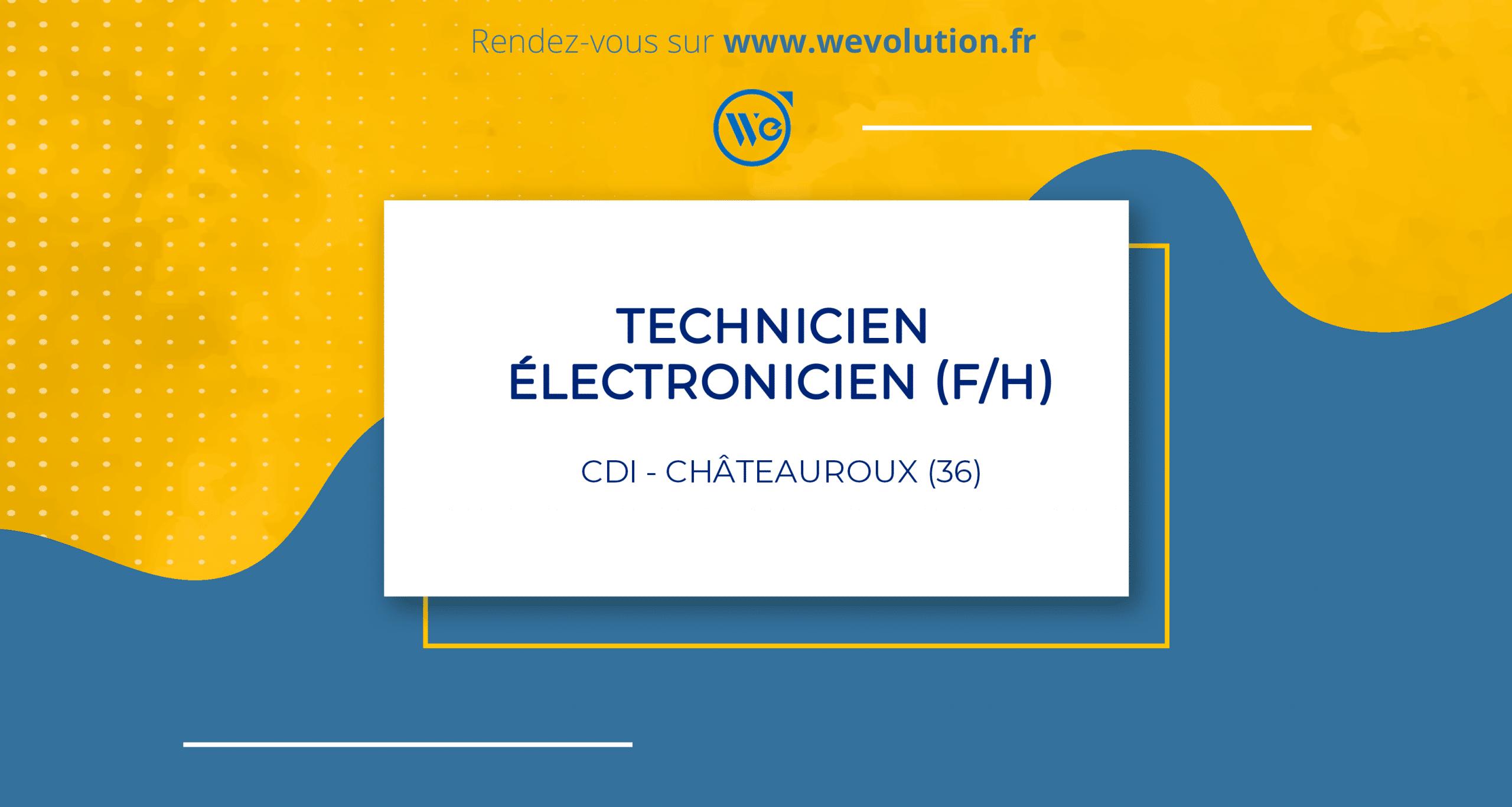 TECHNICIEN ELECTRONICIEN (F/H) – GROUPE MI